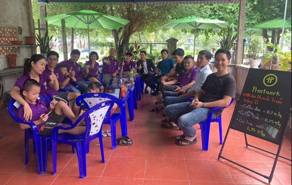 Hình ảnh quán cafe thanh toán Pi Network tại Việt Nam